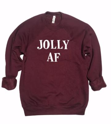 JOLLY AF Crew | Burgundy