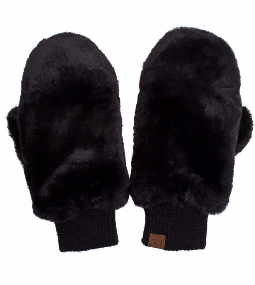 Faux Fur Mitts