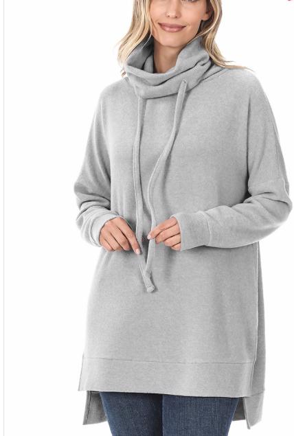 Side Slit Tunic Sweater