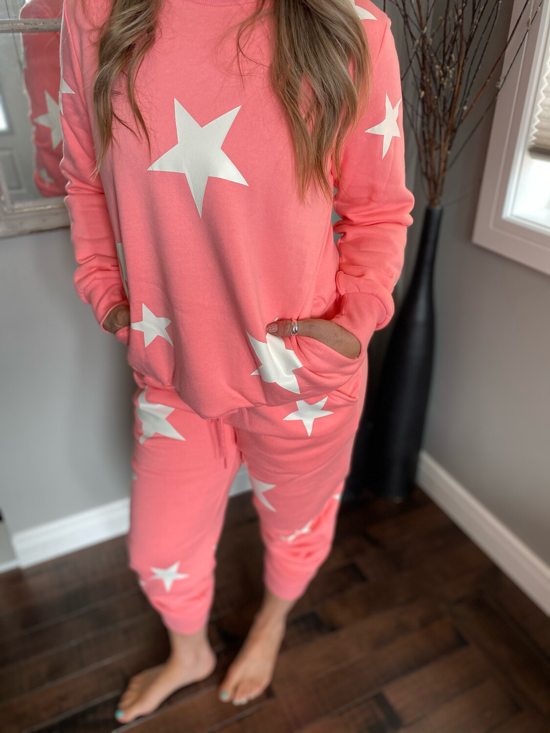 Shine Bright Lounge Set | Bright Pink
