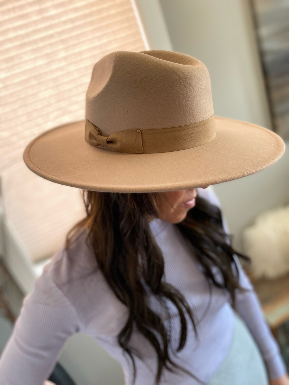 Wide Brim Panama Hat (with band)