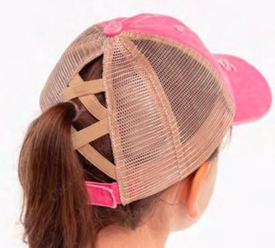 KIDS criss cross ponytail cap
