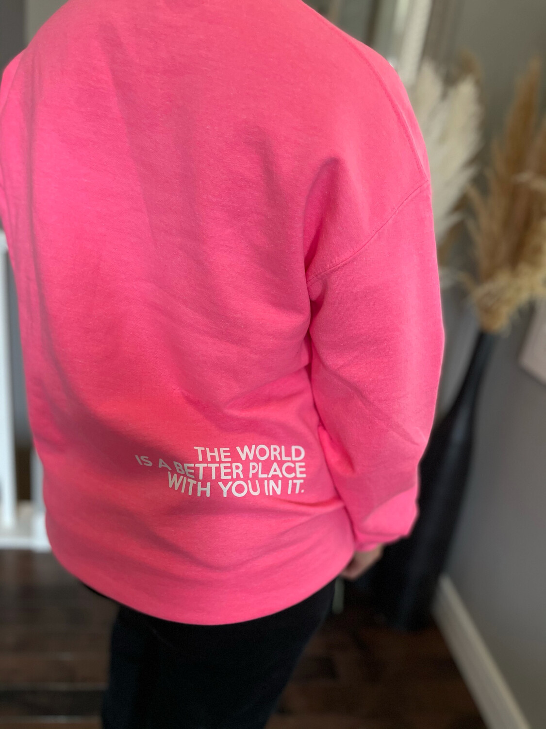 Better Place Crew | Bright Pink Crew