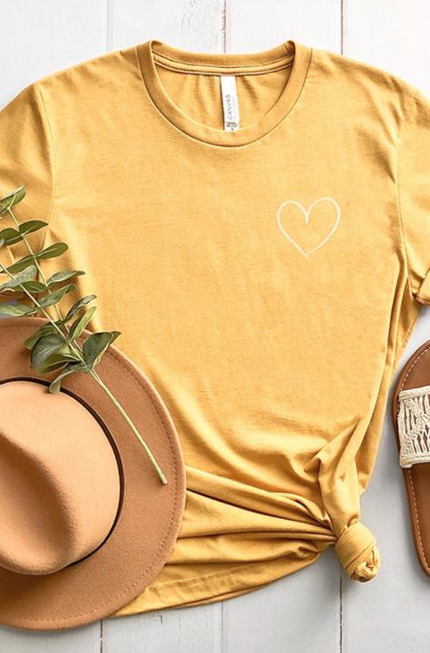 Better Place Tee | Mustard