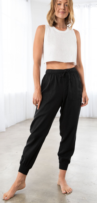 The Charlie Joggers (LOVESTITCH)  | Black