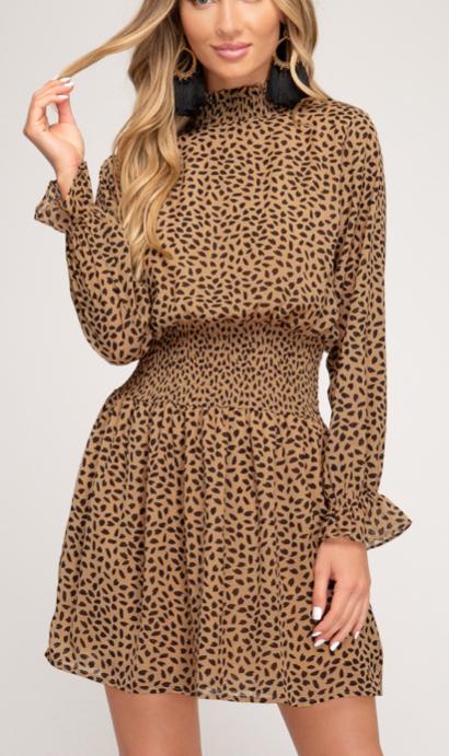 Wild Chiffon Dress | Camel
