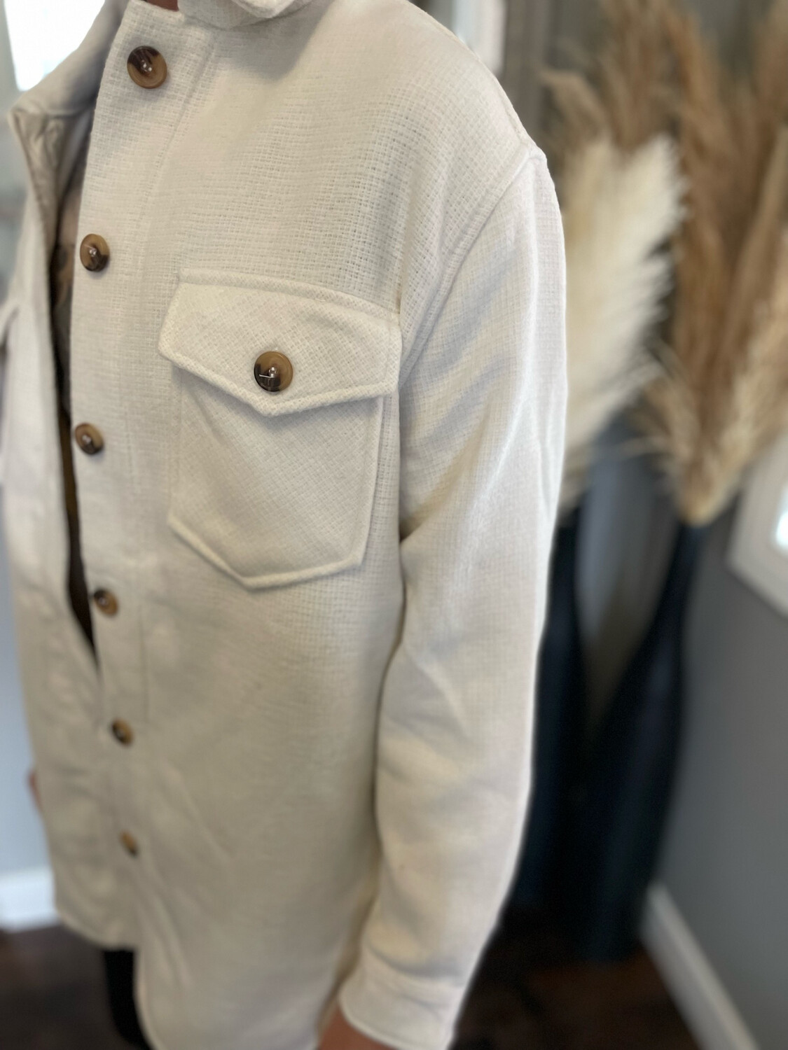 Conscious Shacket   Ivory (Rd Style)