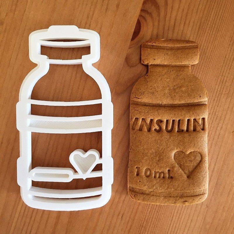 Nesting cookie cutter and stamper set, Insulin vial bottle