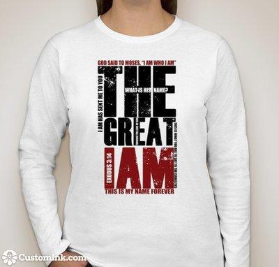 """""""I AM"""" Gildan Ultra Cotton Long Sleeve T-shirt"""