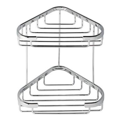 GEESA Twin shower caddy corner
