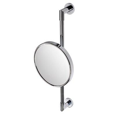 GEESA Shaving mirror on wall rail