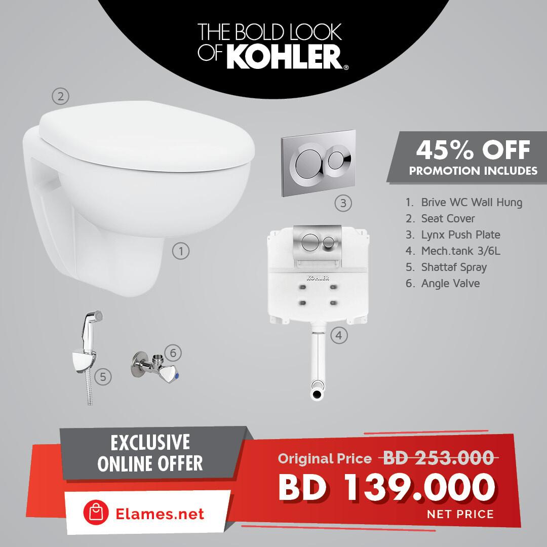 Kohler WC Wall Hung Promo Pack