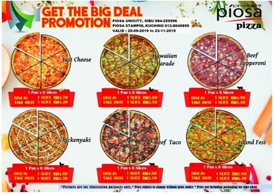 PIZZAS PROMOTION FROM 24 SEPTEMBER 2019 - 23 NOVEMBER 2019