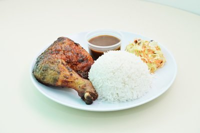 Roasted Chicken with Rice Combo 香烤雞腿米飯套餐