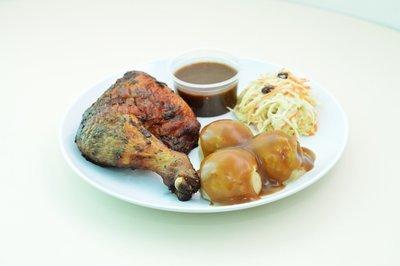 Roasted Chicken with Potato Combo 香烤雞腿馬鈴薯泥套餐