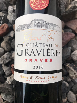 Chateau de Gravieres, Graves 2016 Half Bottle