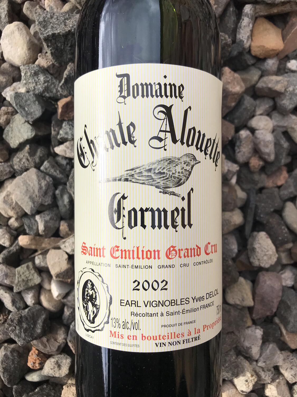 Domaine Chante Alouette Cormeil, Saint Emilion Grand Cru 2002