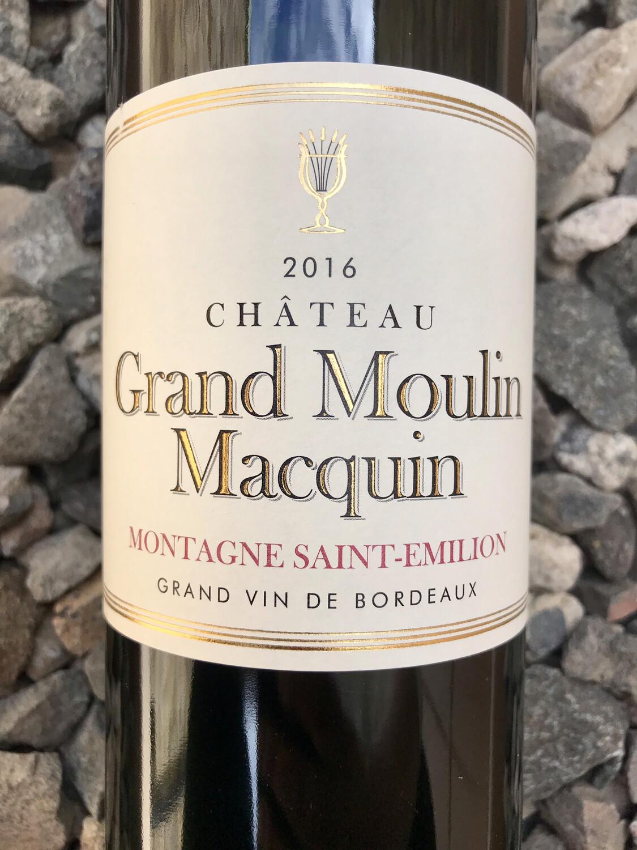 Chateau Grand Moulin Macquin 2016 Montagne-Saint-Emilion