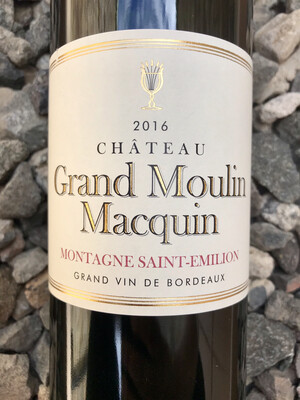 Chateau Grand Moulin Macquin 2016 Montagne-Saint-Emilion