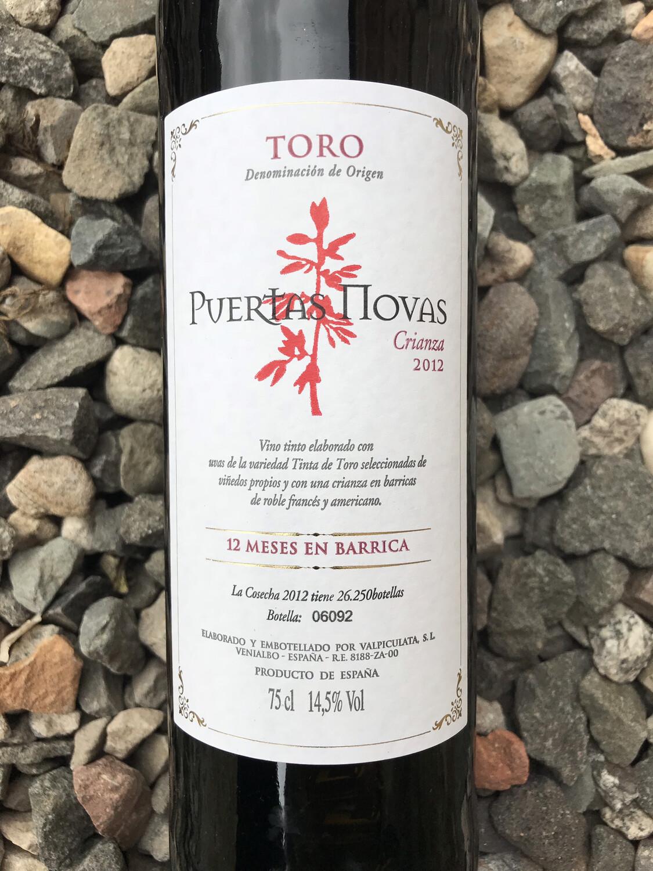 Valpiculata 'Puertas Novas' Toro 2014
