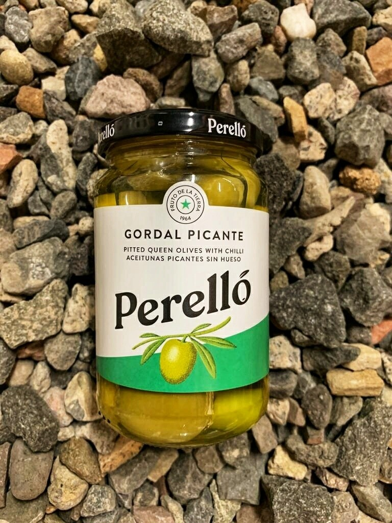Perello Gordal pitted olives 150g Jar