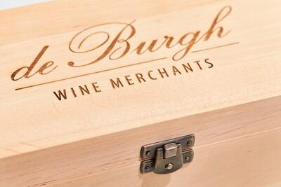 Single Bottle Wooden Wine Gift Box- Natural