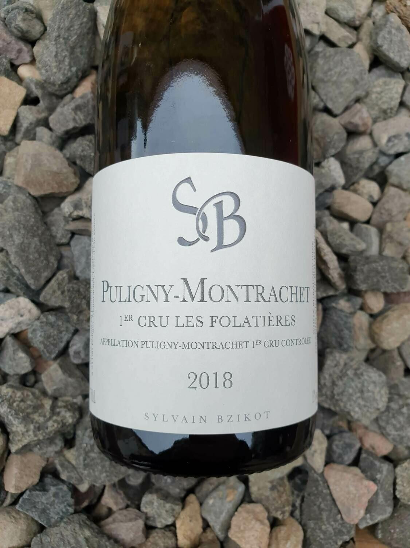 Puligny Montrachet 1er Cru 'Les Folatieres' Domaine Sylvian Bzikot  2018