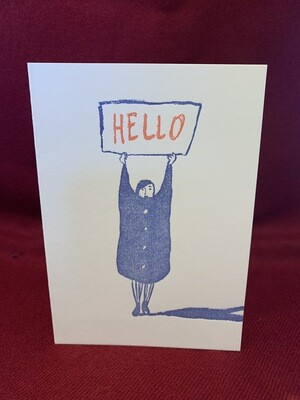 'Hello' Greetings Card by the Thundercliffe Press