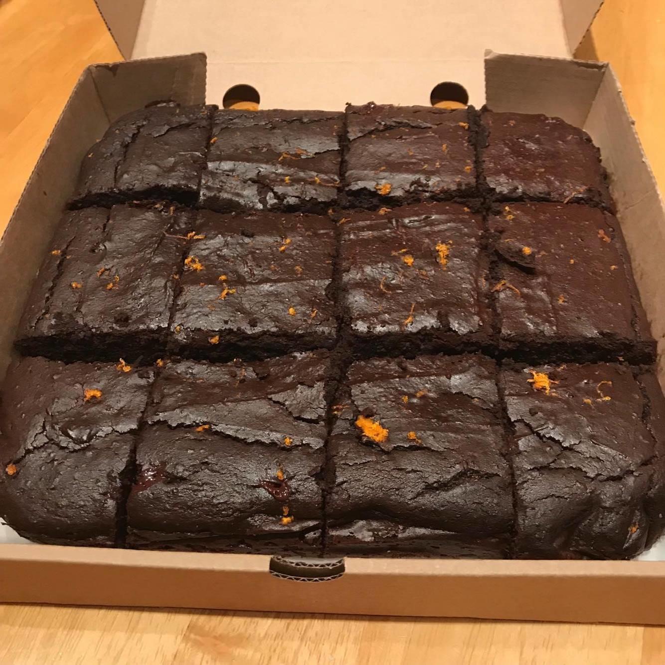 Limited Edition...12 Chocolate Orange GF Brownies