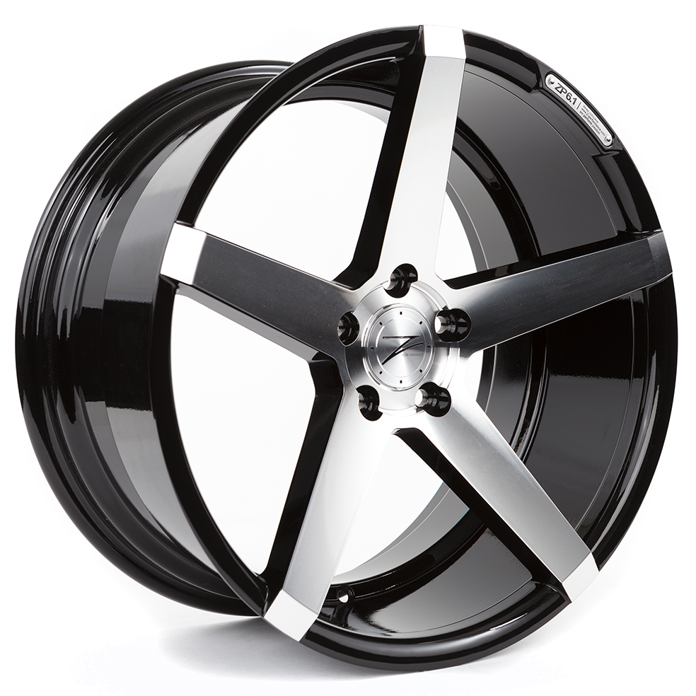 Z-Performance ZP6.1 9.5x19 ET30 5x114.3 Gloss Black Polished