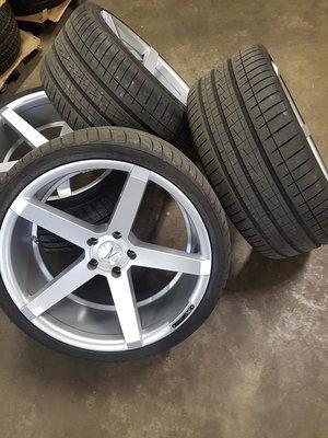 """Set ZP6.1 Sparkling Silver 20"""" voor BMW M3/M4"""