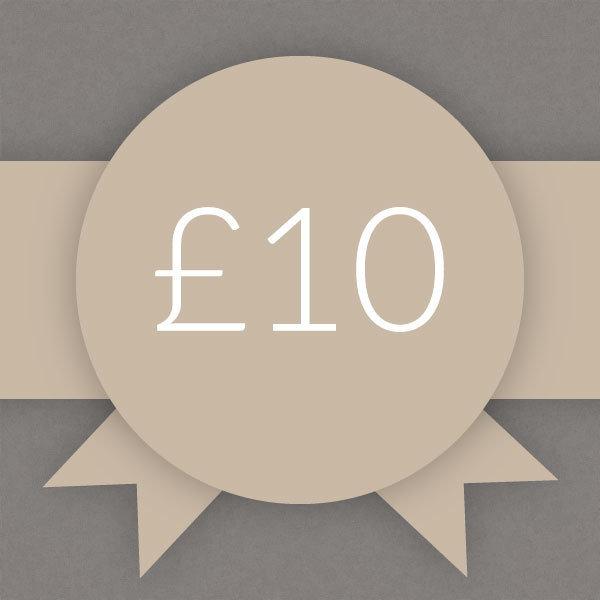 Gift Voucher £10 0001