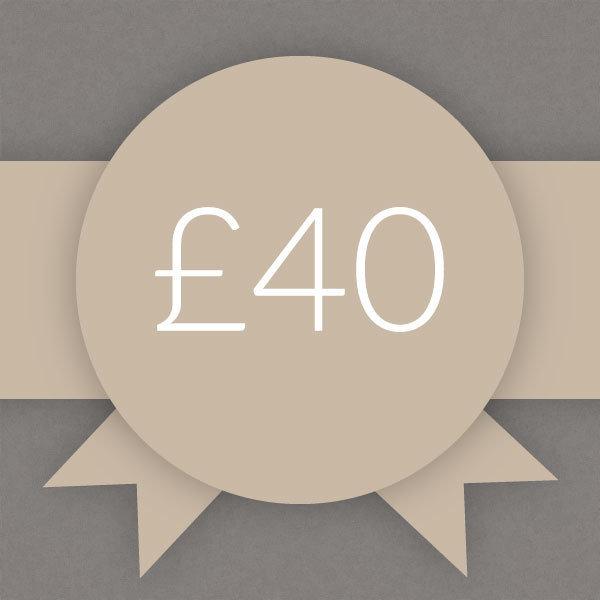 Gift Voucher £40 0004