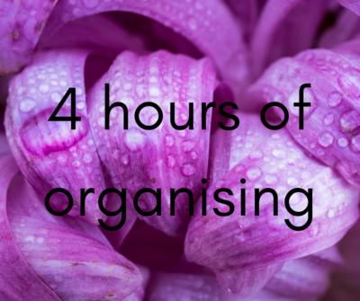 4 hour organising session