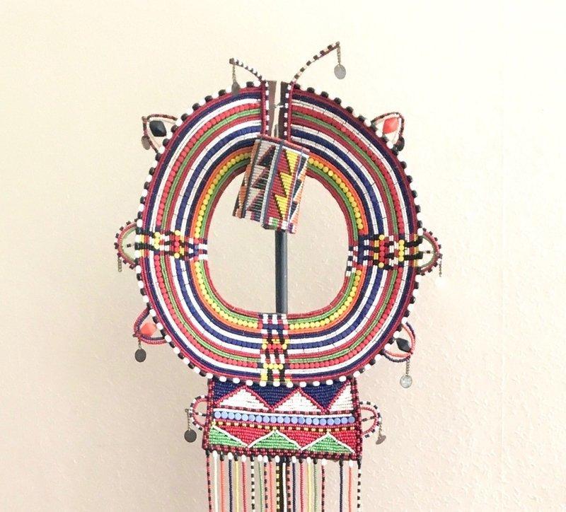 Collier et bracelet de mariage Massaï