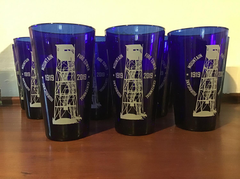 Hurricane Mountain Fire Tower Centennial Pint Glass