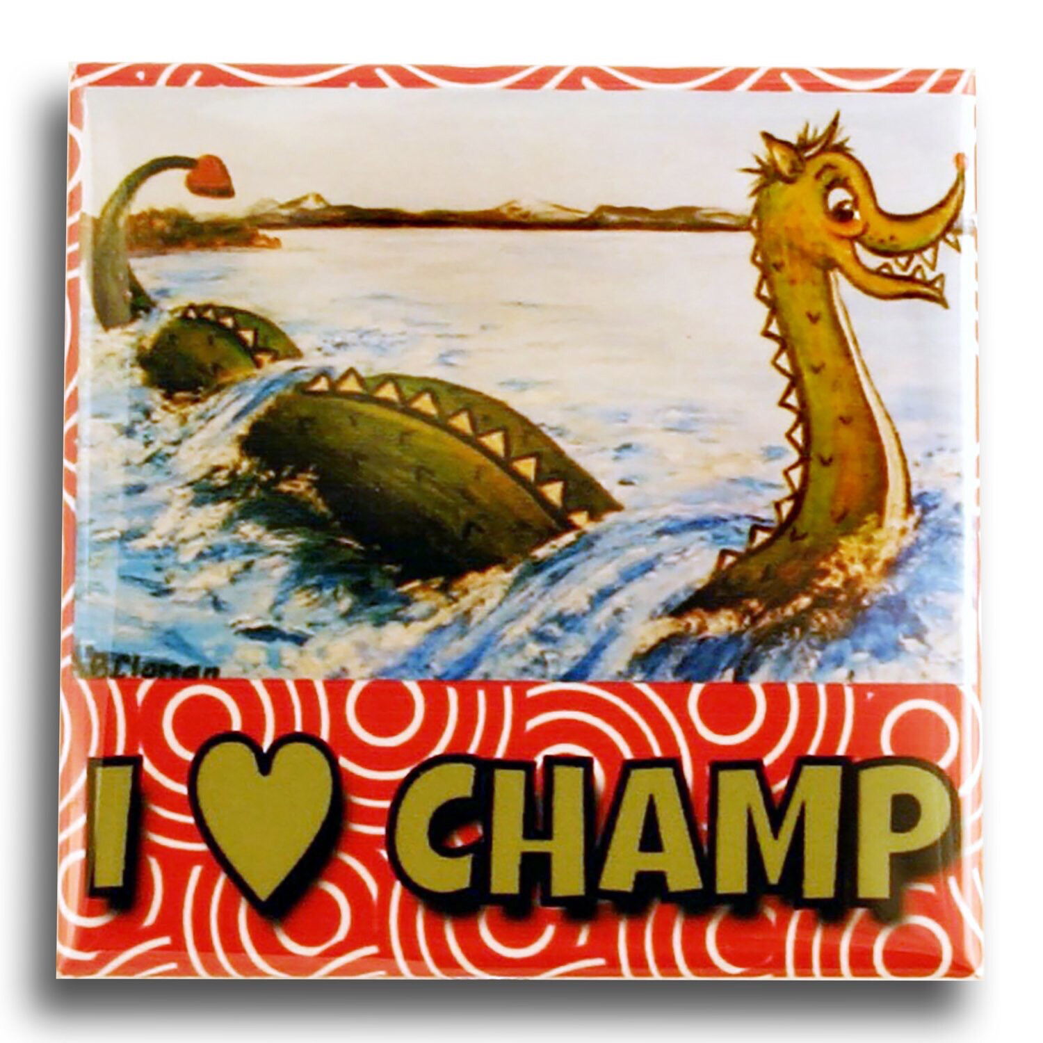 I Heart Champ Magnet