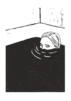 Mulling Print - black & white