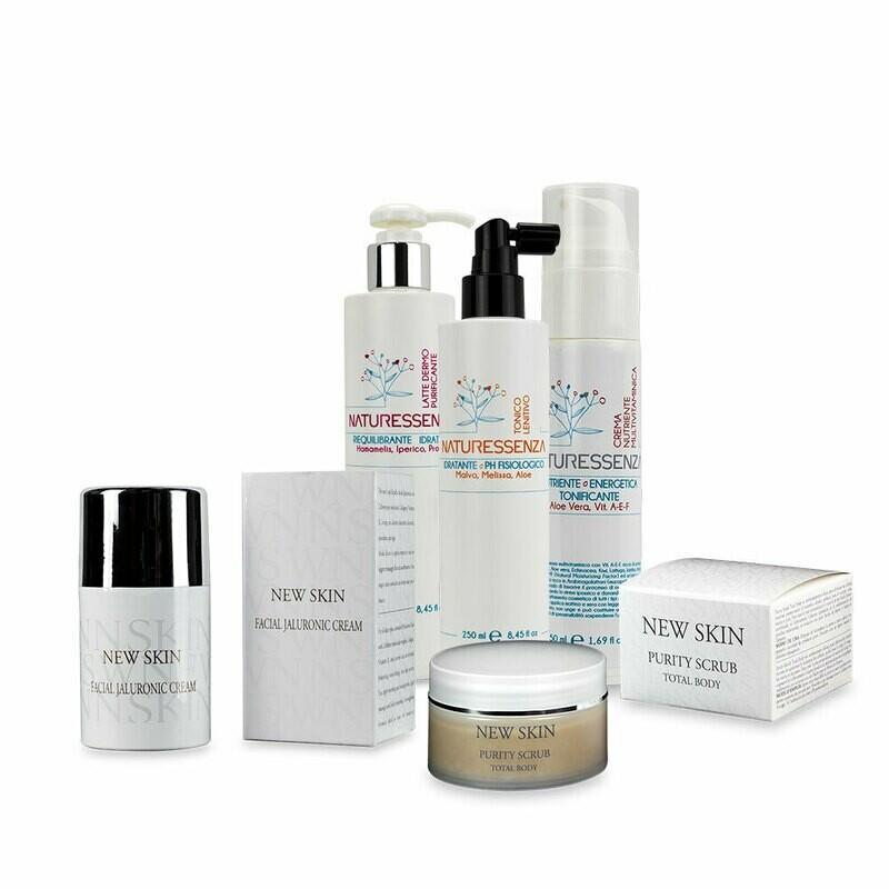 Beauty Routine pelle Normale - Latte purificante - Tonico Lenitivo - Crema Nutriente Multivitaminica - Purity Scrub - Jaluronic Mask (in Omaggio)