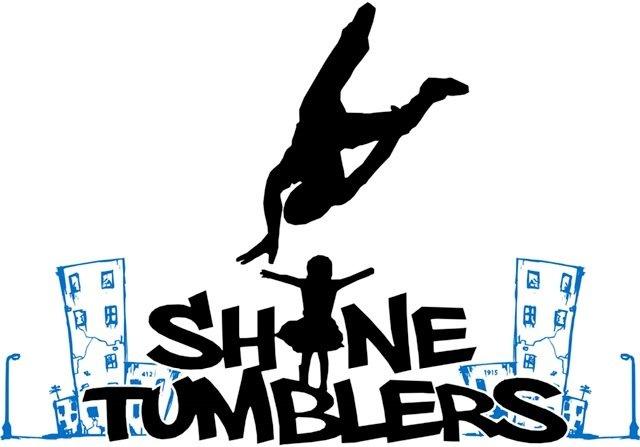 SHINE Tumblers T-shirt (White) 0001