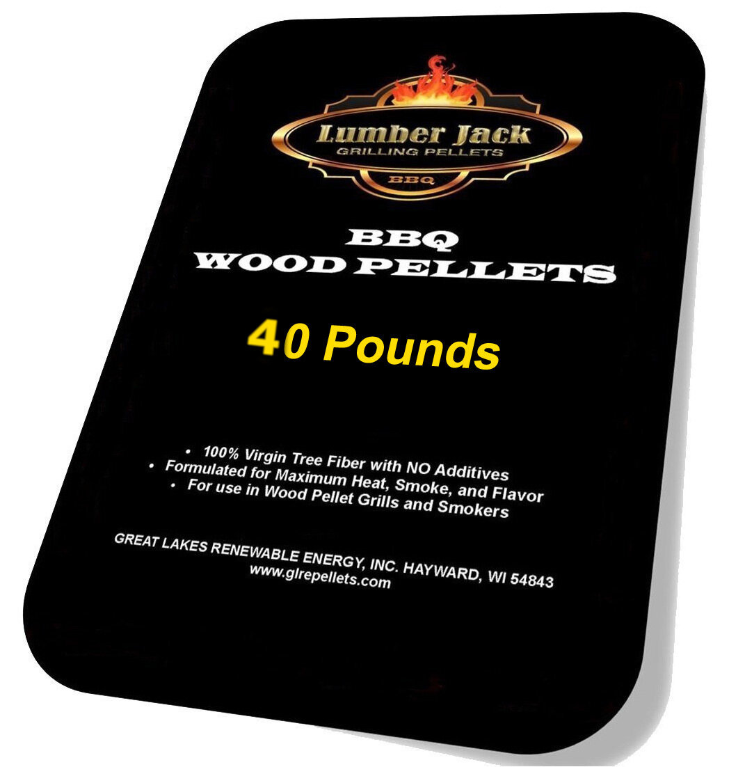 40 Pound BBQ Pellet Variety Pack featuring Lumber Jack(Select 2 20-Pound Bags)
