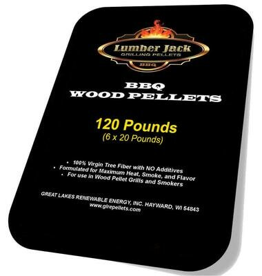 120 Pound BBQ Pellets Variety Pack featuring Lumber Jack (Select 6 20-Pound Varieties)