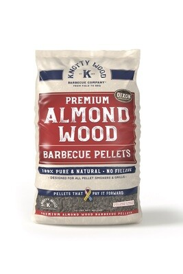 100% Pure Almond Wood Barbecue Pellets KW100ALMOND