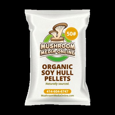 100% ORGANIC Soy Hull Mushroom Pellets