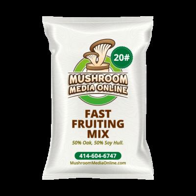 Fast Fruiting aka Masters Mix (50% Oak/50% Soy Hull Mushroom Growing Pellets) - Free shipping