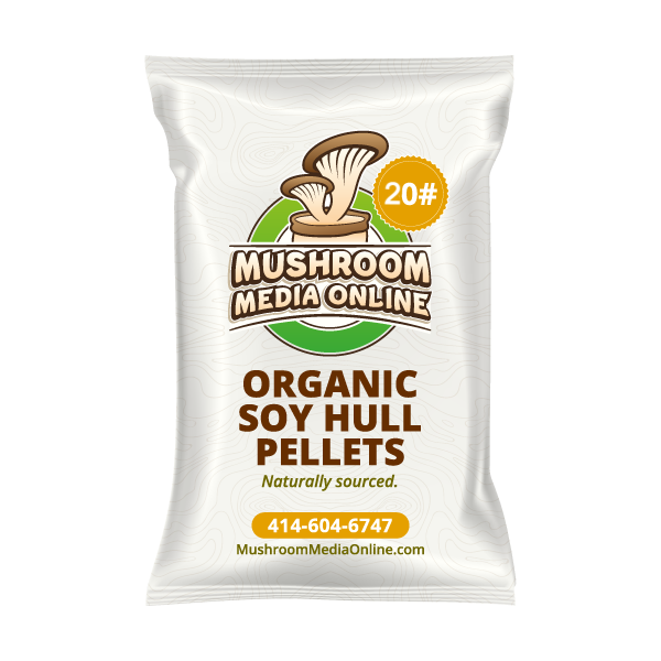20# 100% ORGANIC Soy Hull Mushroom Pellets