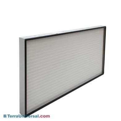 Filter; HEPA, 2'x4', Aluminum, Rated 99.99% efficient