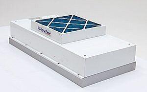 Fan Filter Unit; WhisperFlow, 2'x4', HEPA, 120 V, Powder-Coated Steel