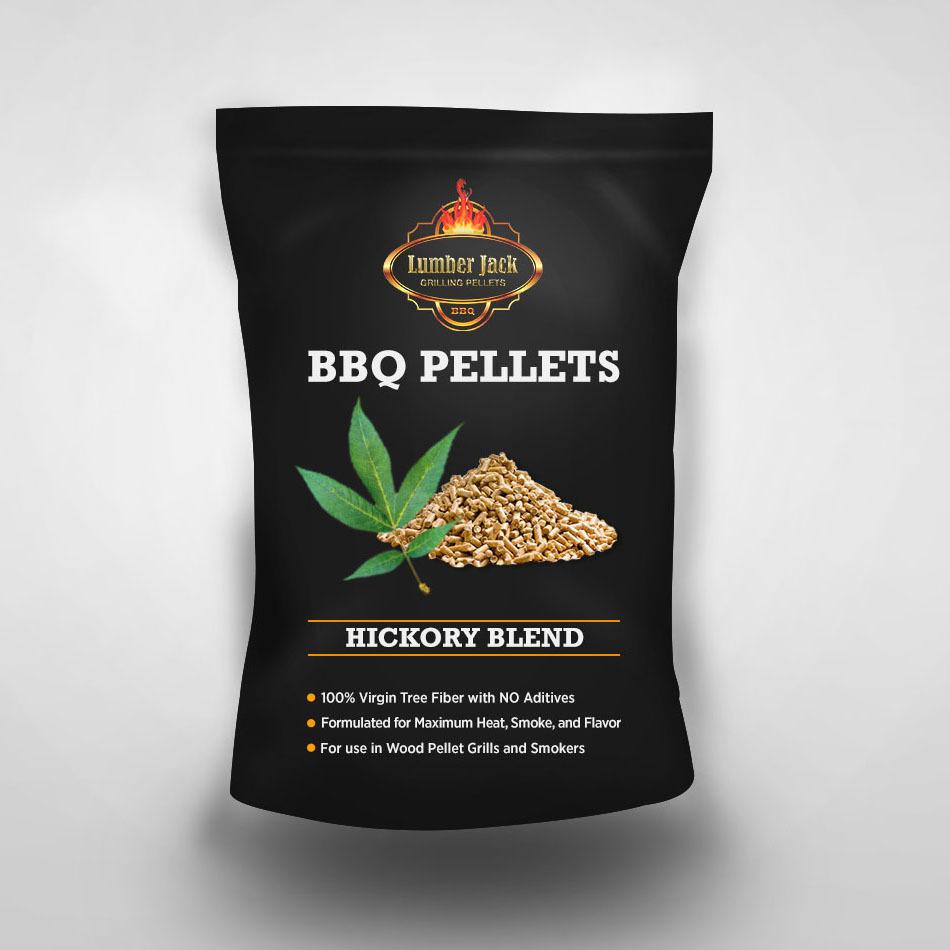 Hickory Blend Lumber Jack BBQ Pellets (40% Hickory/60% Red Oak)
