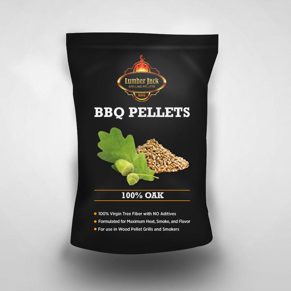 100% Oak Lumber Jack BBQ Pellets
